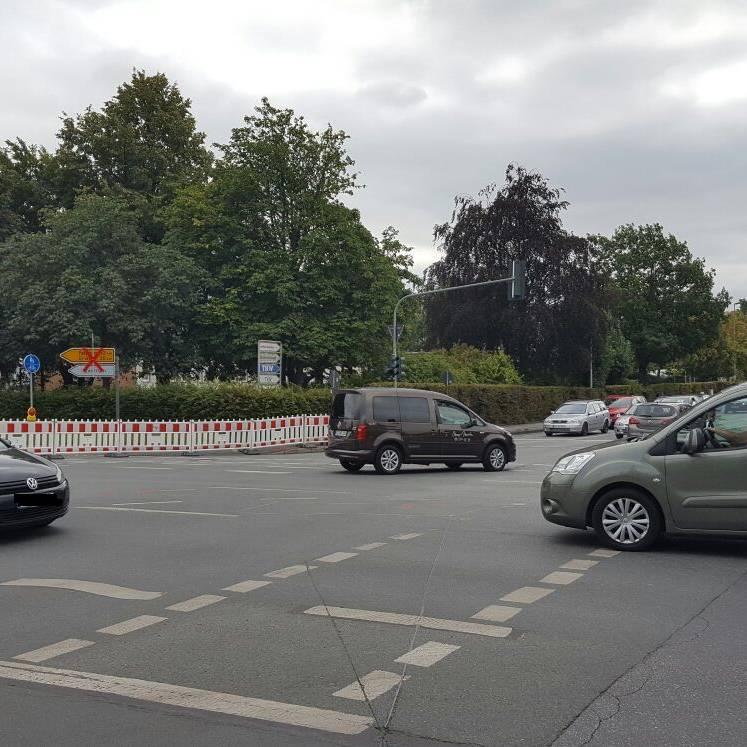 Navigation über Landstraße